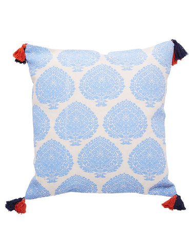 Bermuda Fan Cushion Sky 50x50