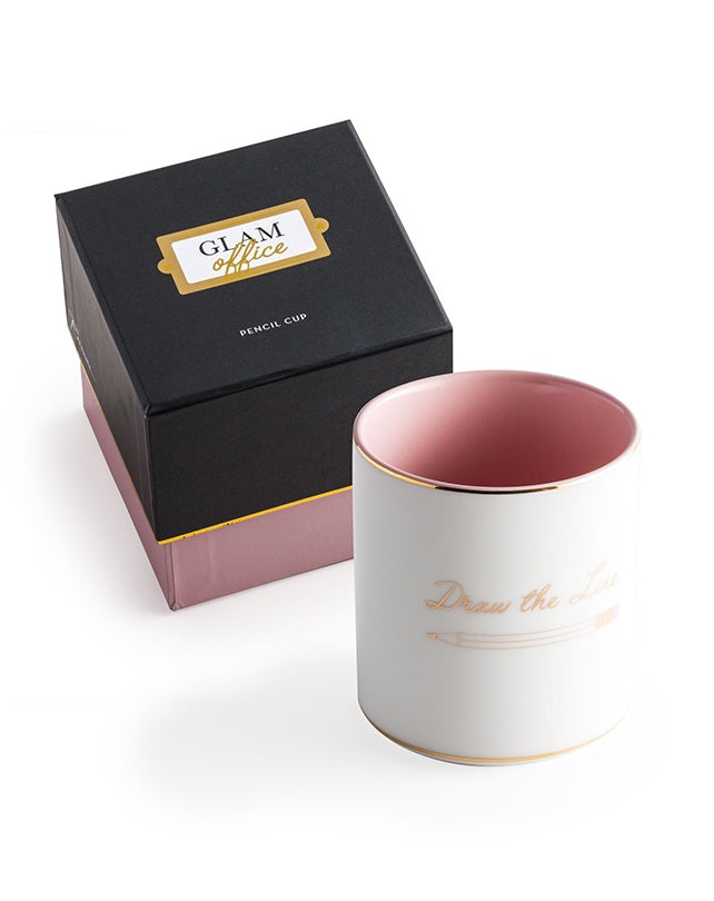 "Glam Office ""Draw The Line' Pencil Cup"