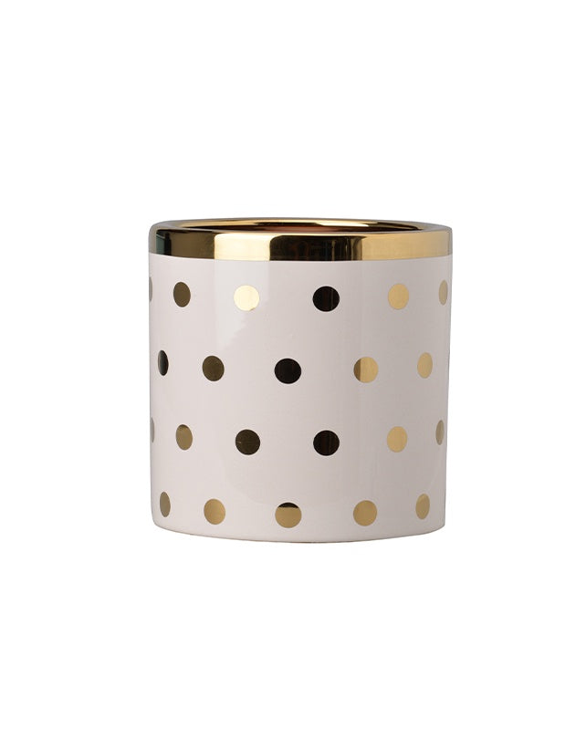 Spot Planter - Cream/Gold