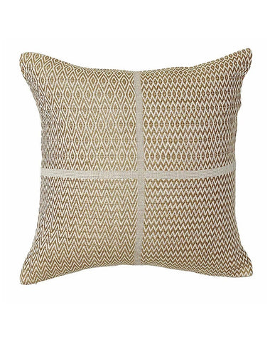 Honning Diamond ZigZag Cushion 50x50 - Mustard