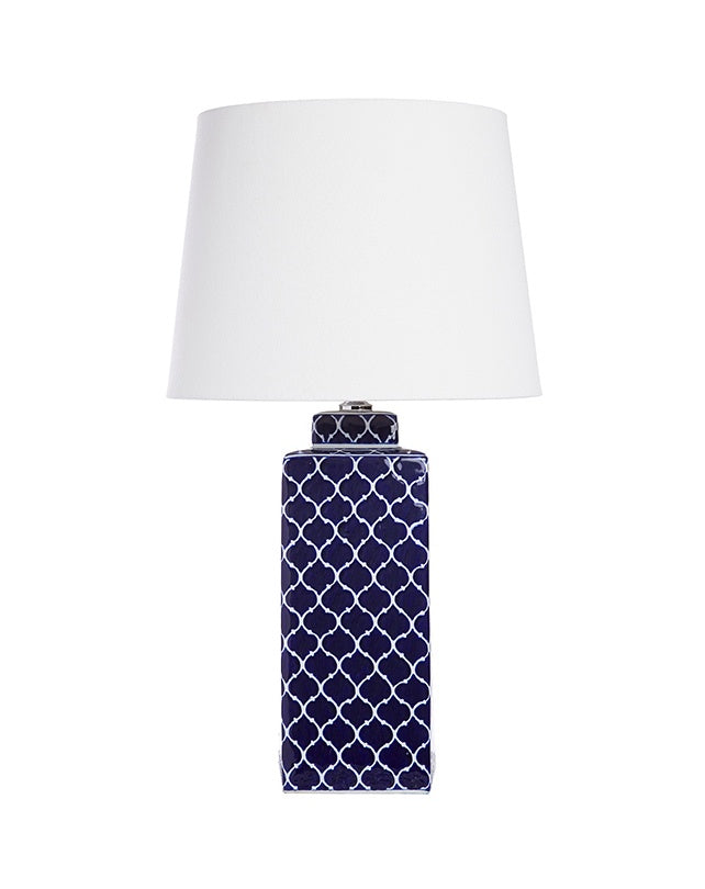 Moroccan Navy Lamp with Shade
