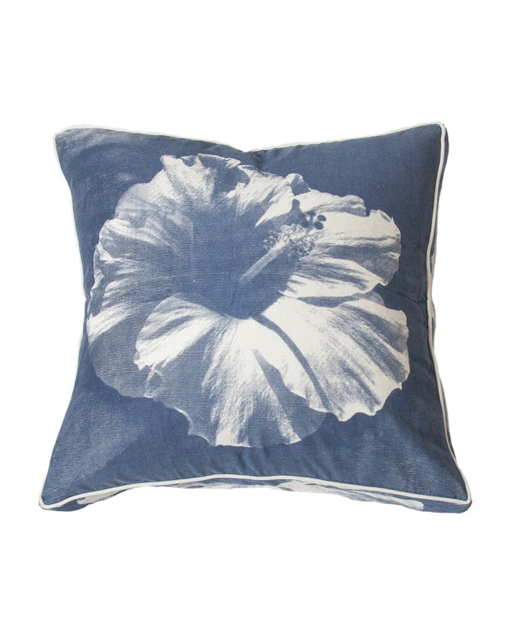 Midnight Hawaiian Hibiscus Cushion  55x55