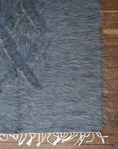Hand Loomed Goat Hair Rug - Grey