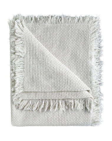 Chelsea Throw with Fringe White 180x150