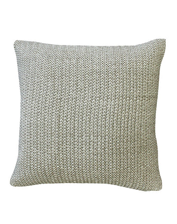 Milford Moss Stitch Cushion 45x45 - Stone/Natural