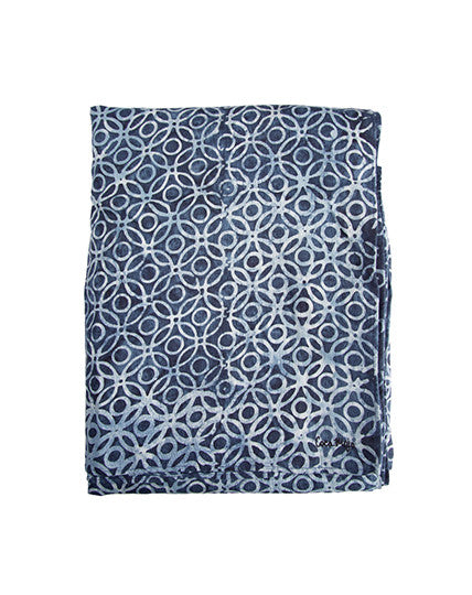 Indigo Rings Linen Cloth