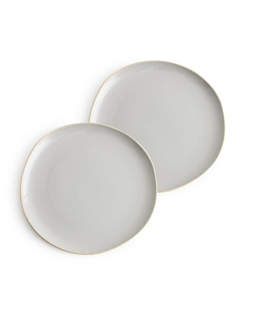 Pacifica Plates Set of 2 - Grey