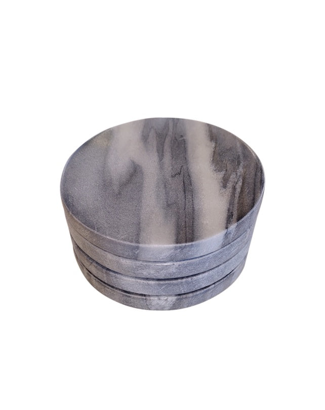 Grey Marble Coasters Set of 4
