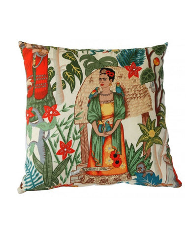 Frida's Garden Cushion Natural 50x50