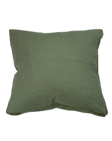 Essential Fern Linen Velvet Gusset Cushion 60x60