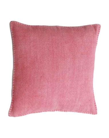 Blanket Stitch Cushion (Pink) 50x50