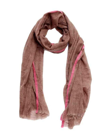100% Cashmere scarf (brown/pink)