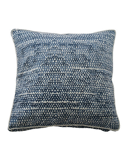 Midnight Fish Scale Cushion