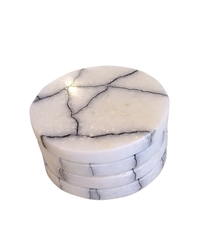 Breaking Stone Coasters Set of 4