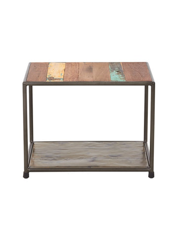 Kleo End Table - Boatwood & Metal