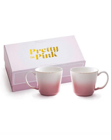 Pretty in Pink Teacup Set of 2
