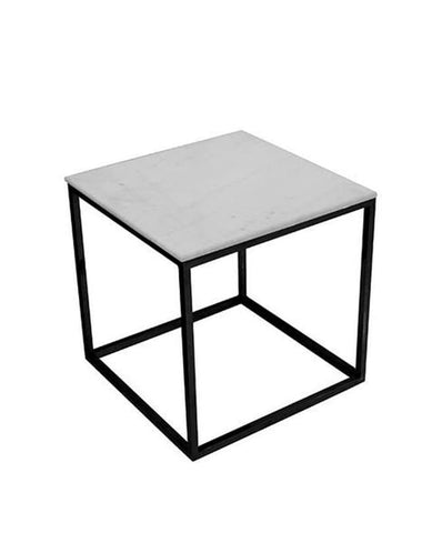 Chill side table (marble+black base)