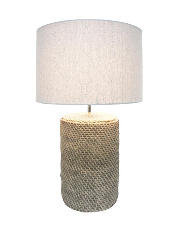Rattan Concrete Lamp 67cmH - Grey