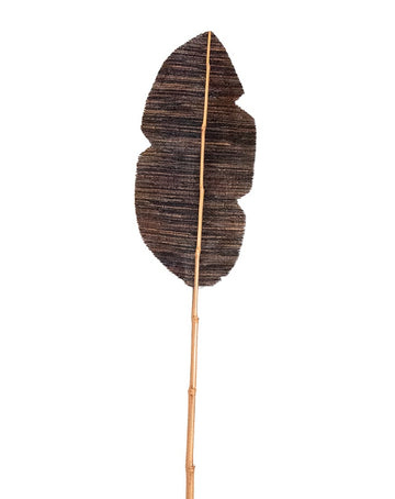 Dried Bamboo Deco Leaf 200cm - Black