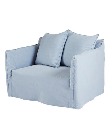 Montauk Slipcover Loveseat - Sky Blue