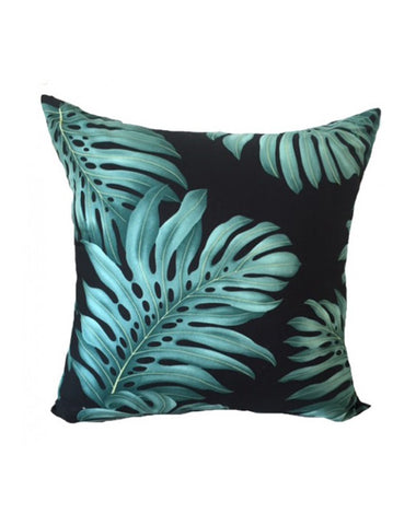 Monstera Black Cushion  50x50