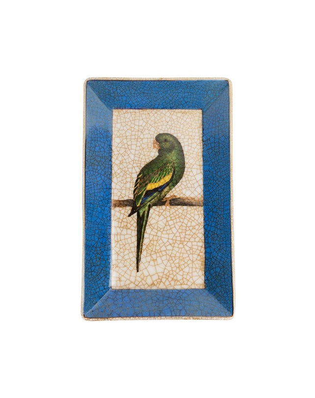 Oriente Bird Wall Plate (Blue)