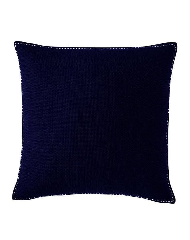 Stitch Cushion Navy Blue 50x50