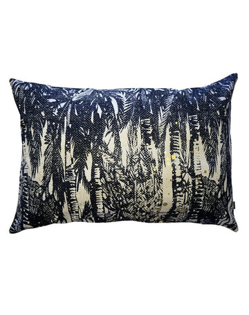 Hana Palms Black Cushion 40x60
