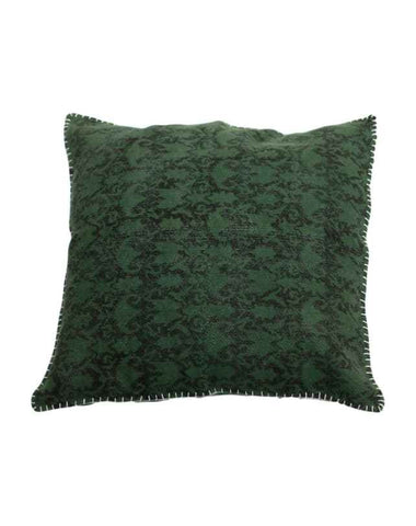 Blanket Stitch Cushion (Green) 60x60