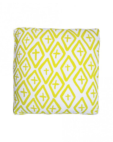 Diamond Cross Basic Lime Cushion 50x50