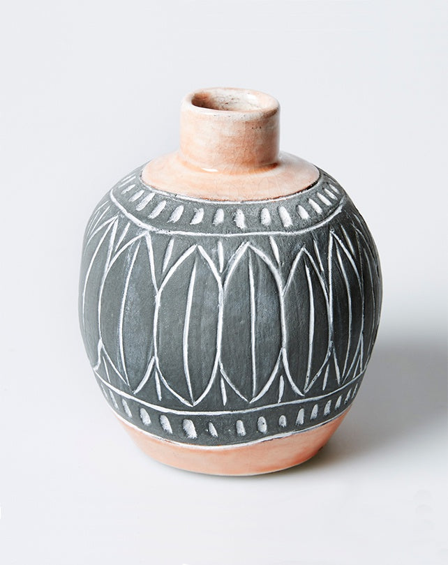 Modern Tribal Peach Bud Vase