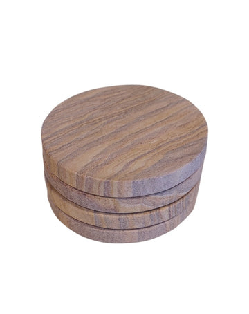Brown Forest Marble Coasters Set of 4