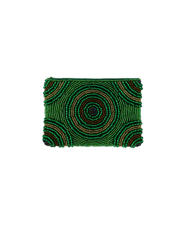 Emerald Beaded  Purse