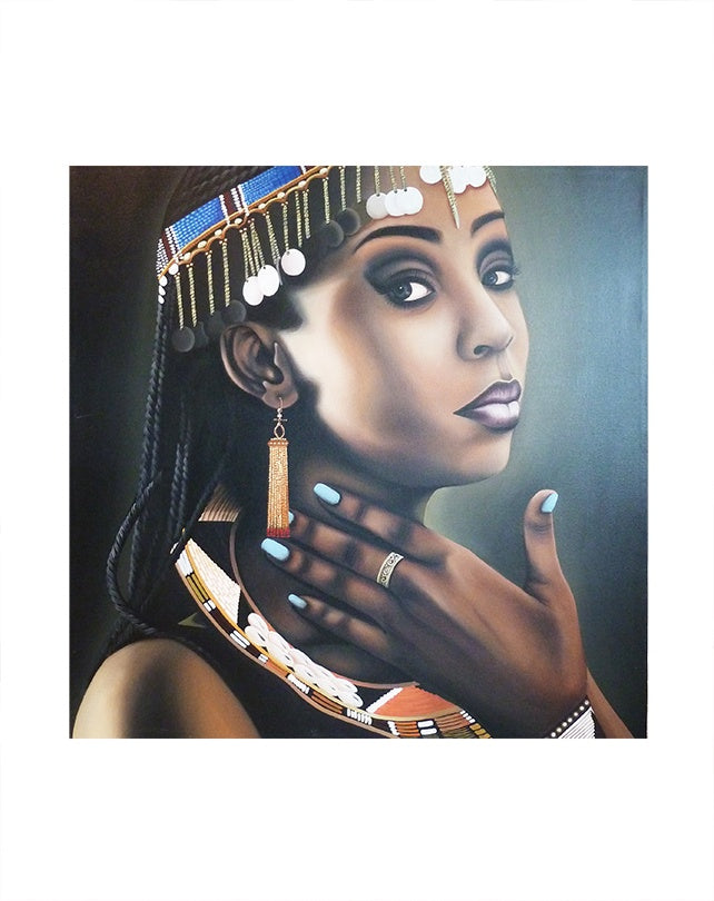 African Jewelled Lady with Blue Fingernails