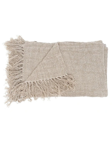 Bedouin Linen Throw Slate 200x140