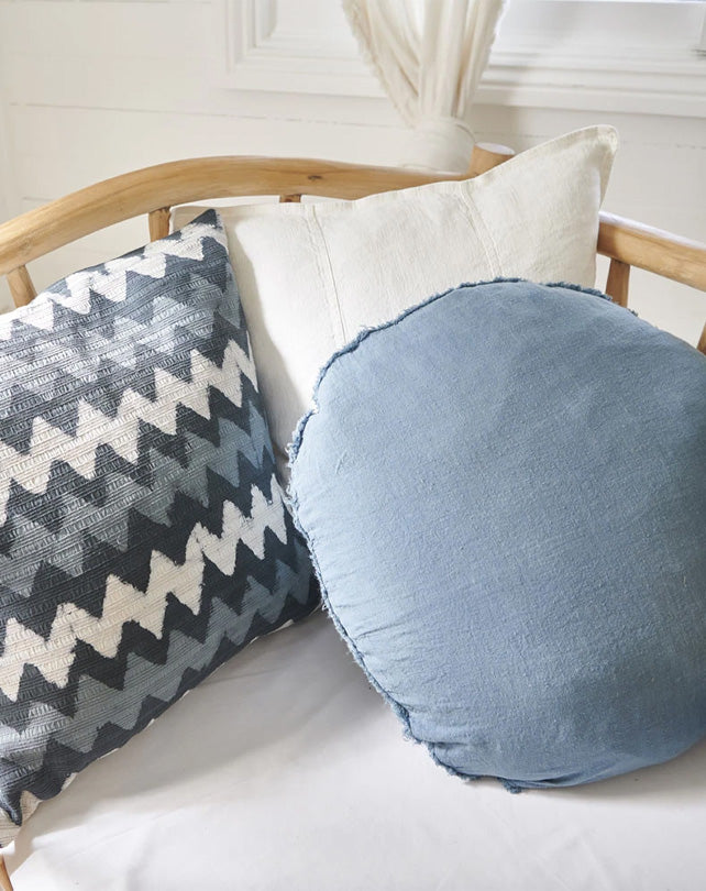 Lulu Cushion - 60cm Round - Blue Azure