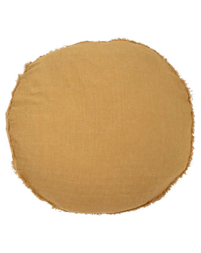 Lulu Cushion - 60cm Round - Spun Gold
