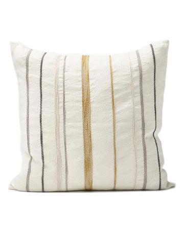 Moro Cushion White/Multicolour Stitching 50x50