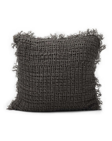 Rustica Cushion Coal  50x50