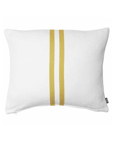 Simpatico Cushion White/Mustard 50x60