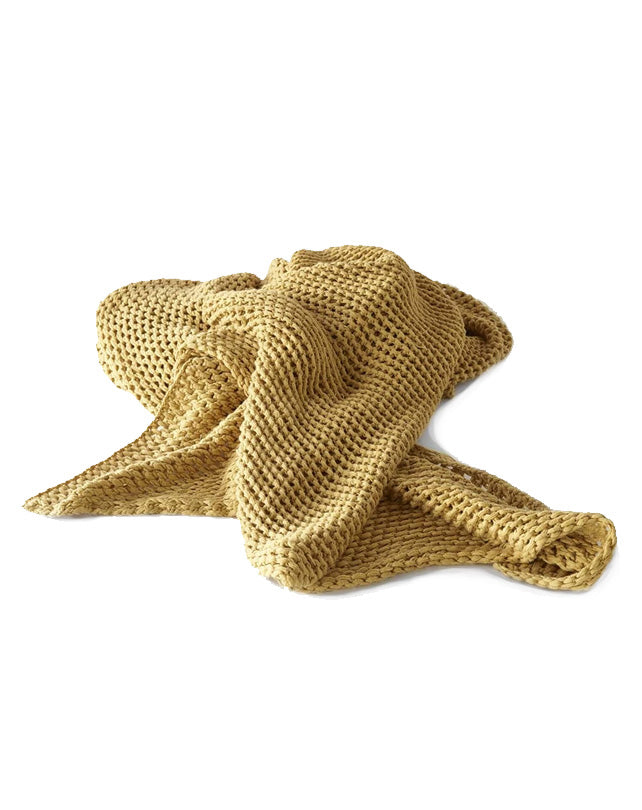 Abrazo Knitted Throw Spun Gold 220x140