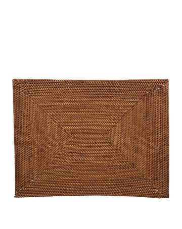 Smoked Rattan Placemat - Rectangle