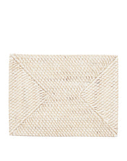 Whitewash Rattan Placemat - Rectangle