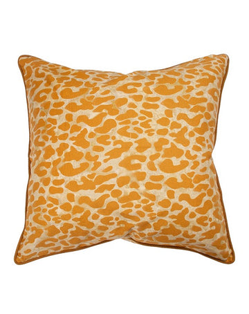 Leopard Tan & Brown Cushion 55 x 55
