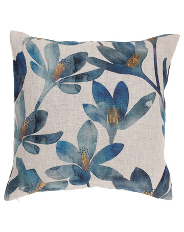 Tulip Cushion Blue/Mustard 50x50