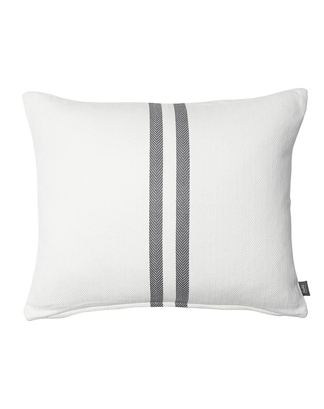 Sympatico Cushion White/Slate 50x60