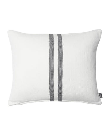 Simpatico Cushion White/Slate 50x60