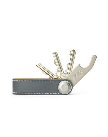 Orbitkey - Leather Grey/White