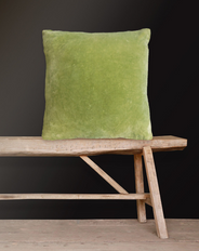 Velvet Cushion Lime Green 50x50
