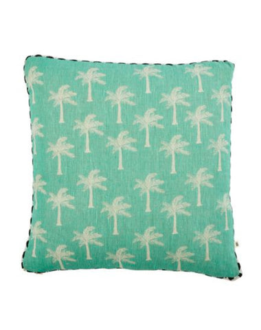 Tiny Palms Mint Cushion 50x50